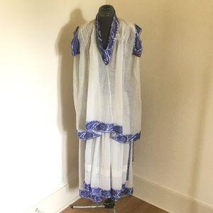 Alka Designs Vintage Boho Tunic Skirt Set, Sz M
